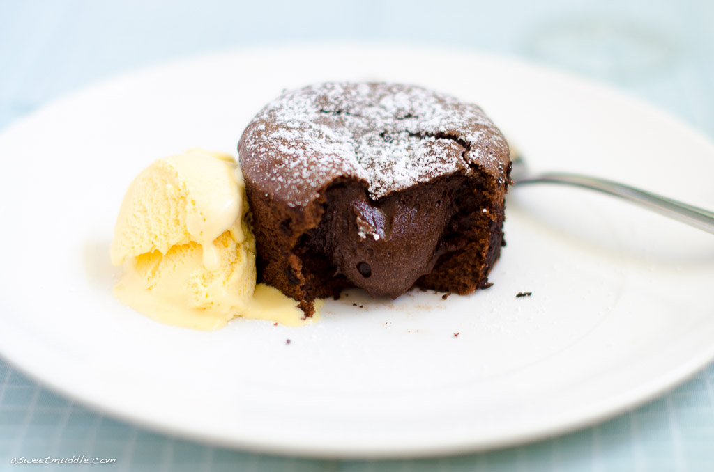 Decadent chocolate fondants - A Sweet Muddle