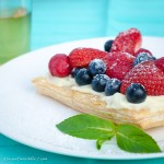 Quick berry tart with mascarpone