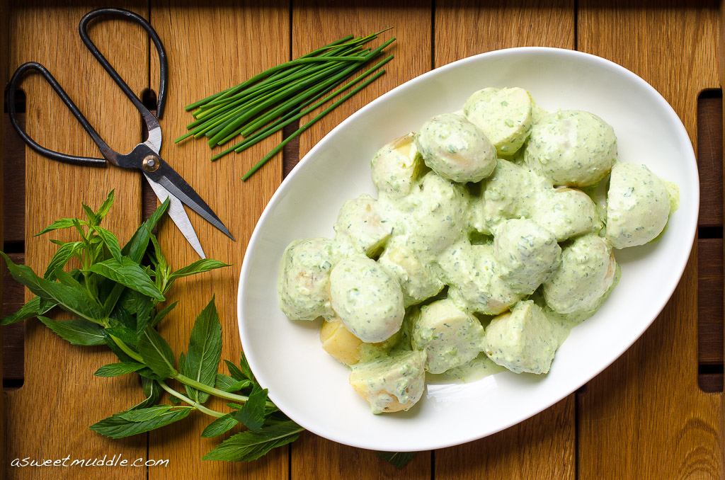 Potato Salad With Peas And Mint Recipes — Dishmaps