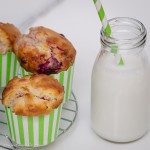 Muffins - raspberry, macadamia & white chocolate