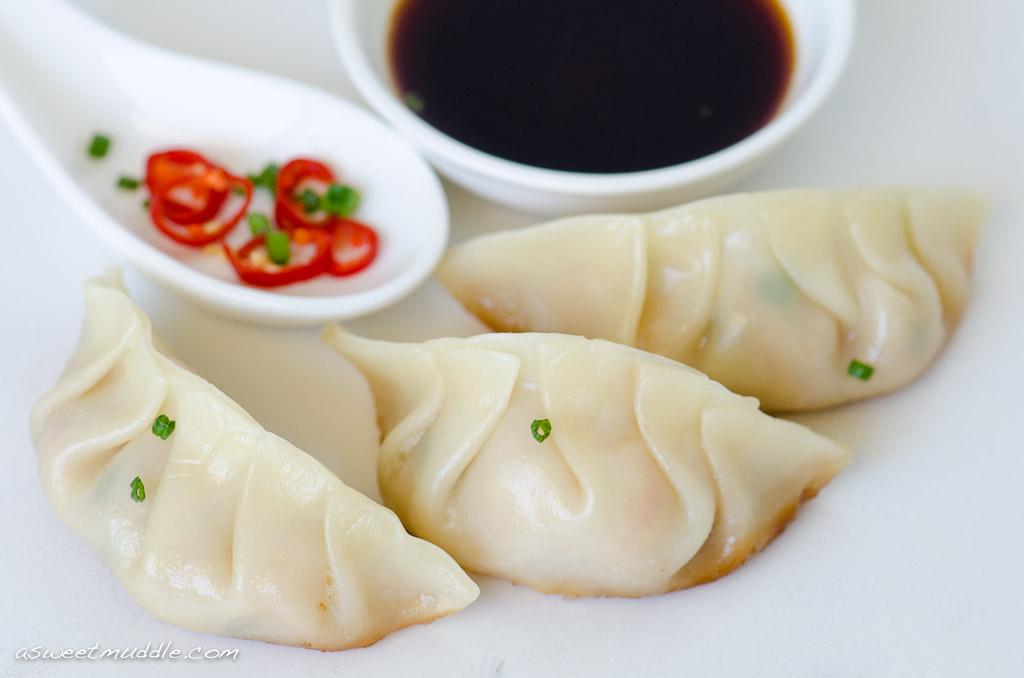 Prawn & chives dumplings