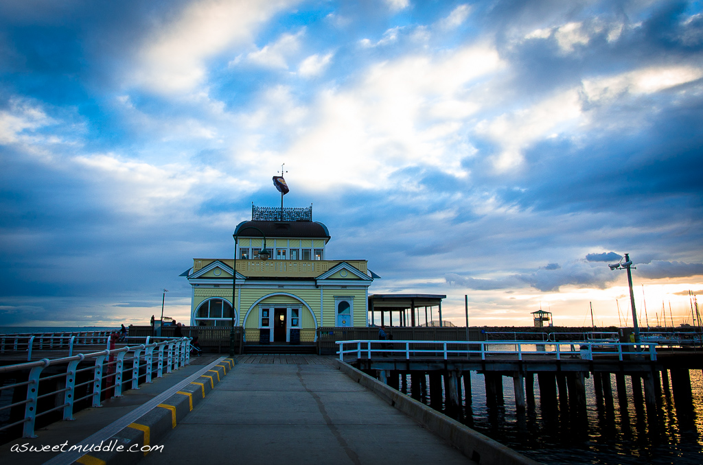 Sunset at St Kilda's Pier