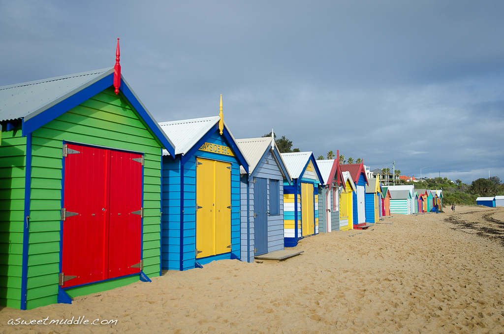 Brighton beach's bathing boxes, Victoria
