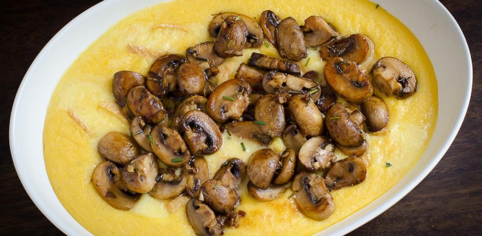 Sauteed mushrooms with creamy polenta