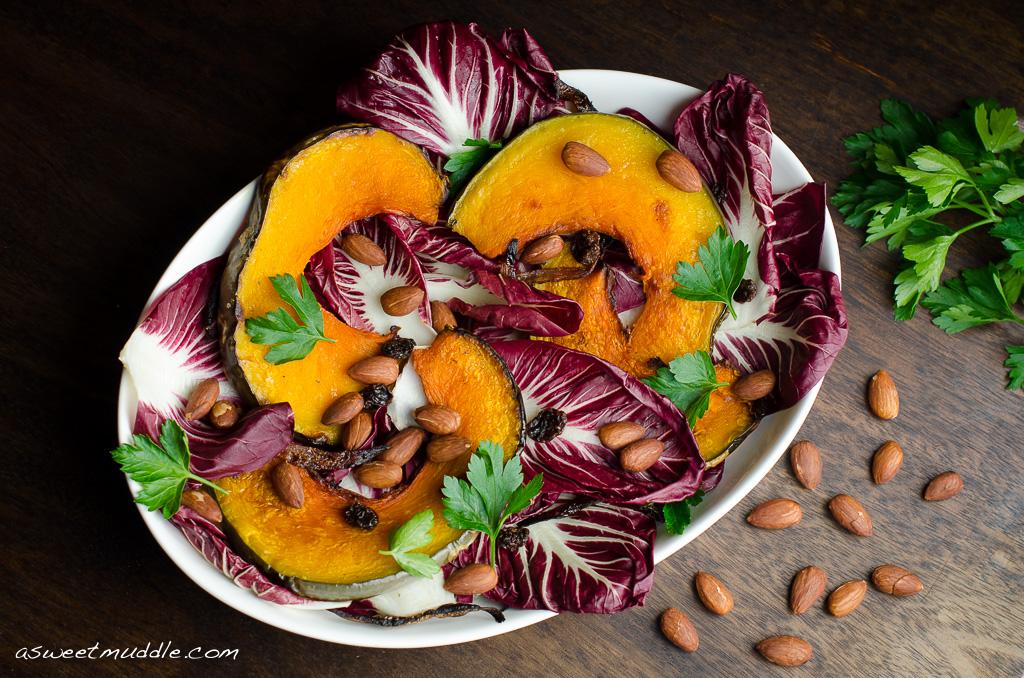 Roast pumpkin & radicchio salad
