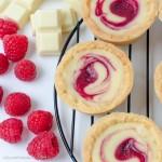 Tartlets, White chocolate and raspberry swirl