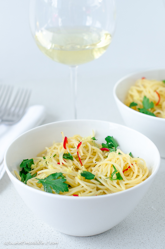 Fresh lemon & chilli spaghettini | A Sweet Muddle