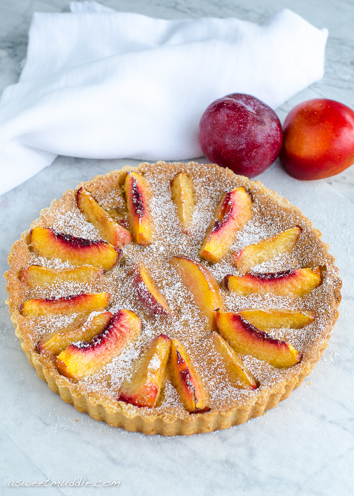 Brown butter nctarine & plum tart | A Sweet Muddle