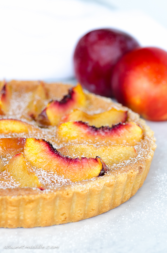 Brown butter nectarine & plum tart | A Sweet Muddle